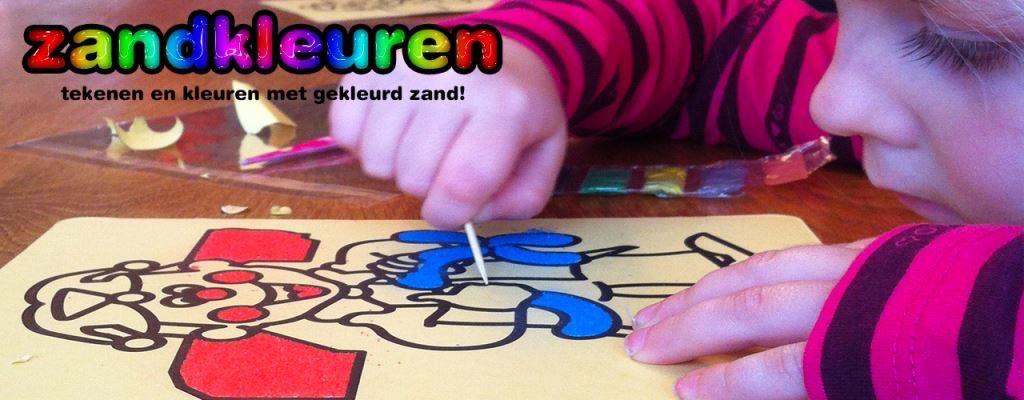 kleuren met gekleurd zand