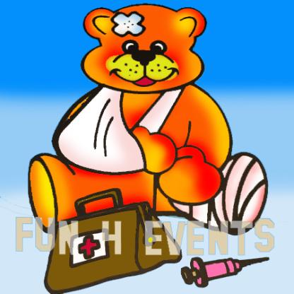 Zandtekening zieke beer