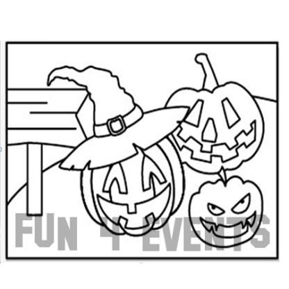 zandkleurplaat pompoen halloween
