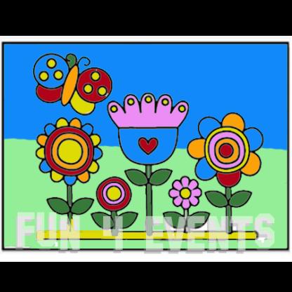 zandtekening bloemen