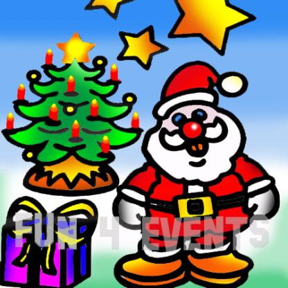 zandtekening kerstman boom