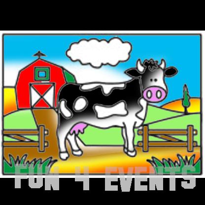 zandtekening koe boerderij