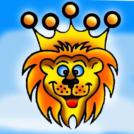 zandtekening leeuw
