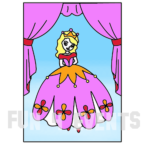 zandtekening prinses gordijn