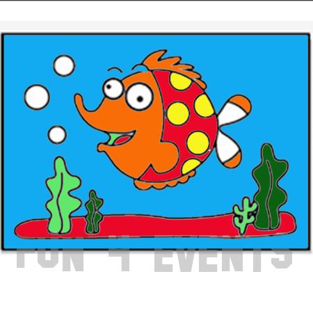 zandtekening vis