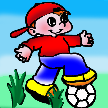 zandtekening voetbal