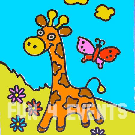 zandtekeningen giraffe