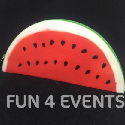 watermeloen squishy sleutelhanger