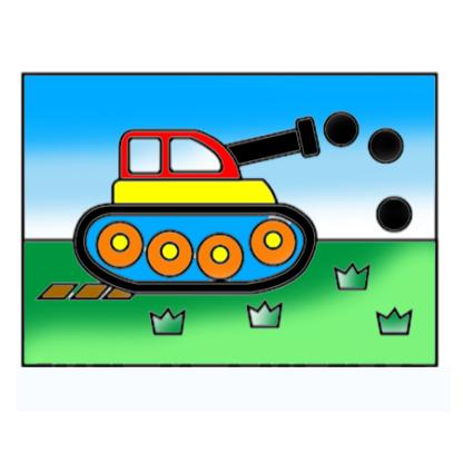 zandkleurplaat tank