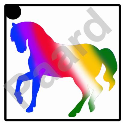 glittertattoo paard