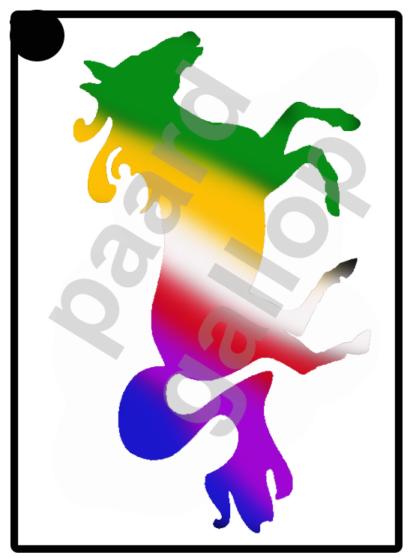glittertattoo paard in gallop