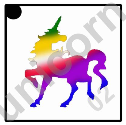 glittertattoo unicorn 02