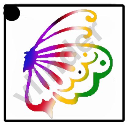 glittertattoo vlinder