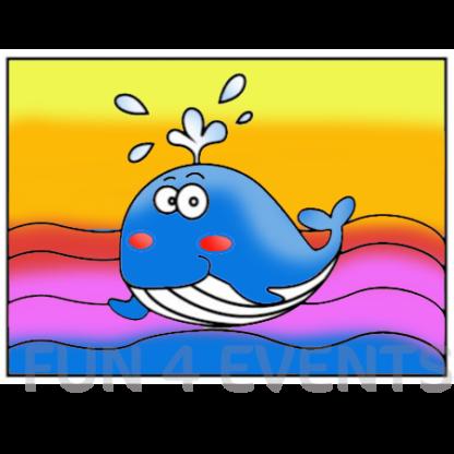 walvis gekleurd zandtekening